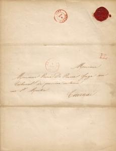 1850 Victorine de Séjouret et Emile d'Auxy de Launois (comte) (faire-part de maraige) c Eric de Séjournet1.jpg