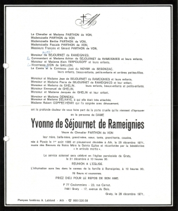 pipaix,ghyssegnies,1913,tournoi de chevalerie,tournai,parthon de von,béclers,faire-parts