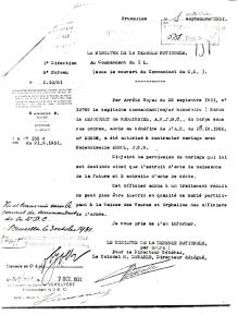 19311001 Albert dSdR Autorisation de contracter mariage (Ministre de la Défense Nationale).jpeg
