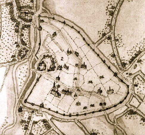 1550 ca Ath Plan de Jacques de Deventer, Atlas topographique des Pays-Bas, II, pl. 19.jpg