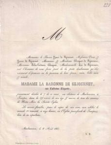 1861 - Faire-part décès de Ludivine Liégeois (1802- 7 août 1861).jpg
